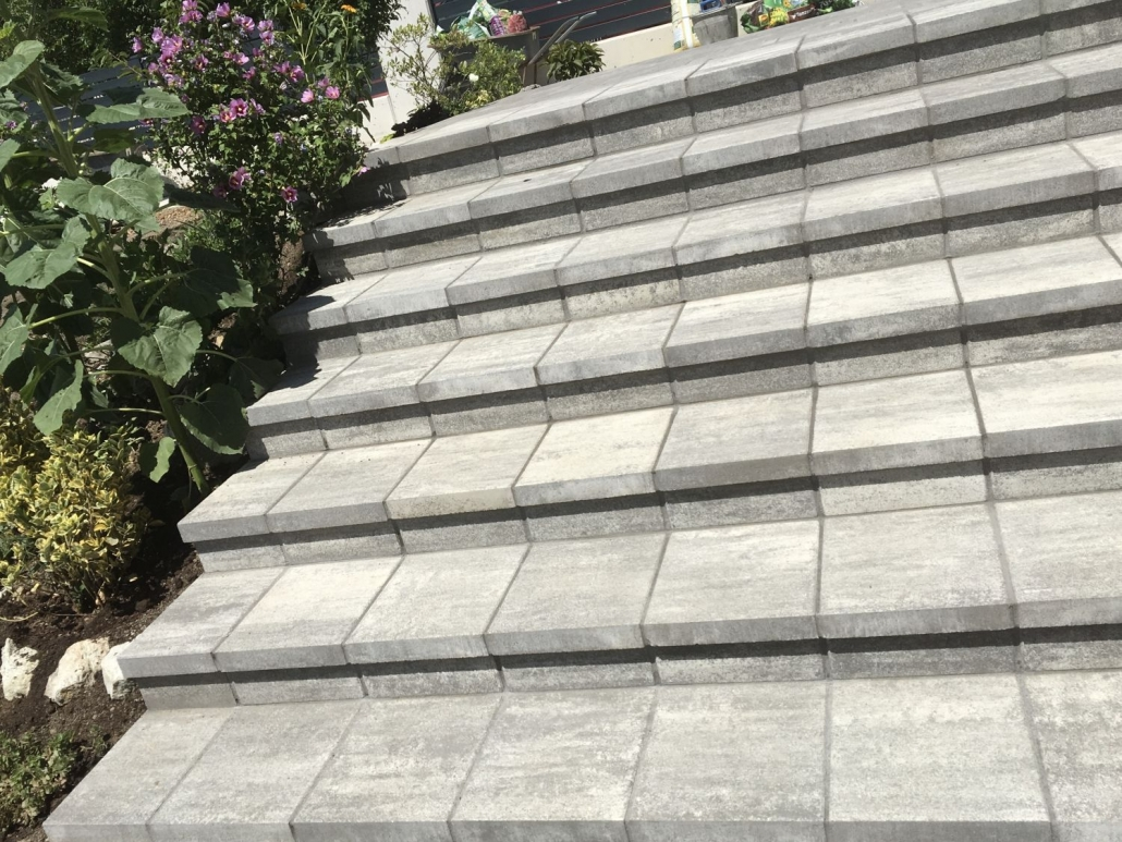 Treppenbauweise aus Stein
