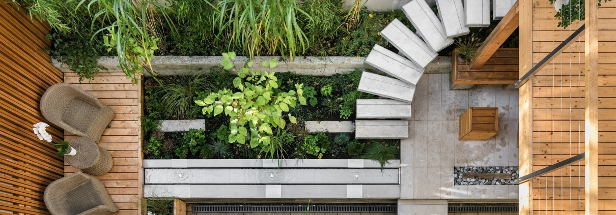 Terrasse aus der Vogelperspektive